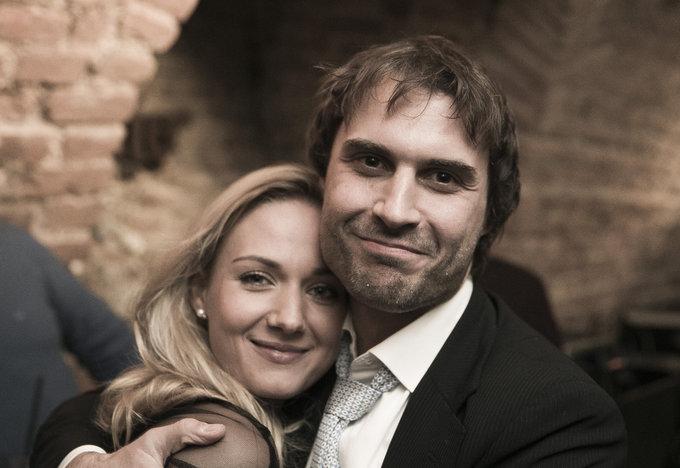 Viganto Ovadnevo/Žmonės.lt nuotr./Mantas Jankavičius su žmona Ieva