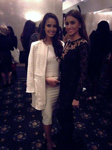 """Asmeninio albumo nuotr./""""Miss World 2013"""" Megan Young ir Agnė Kavaliauskaitė"""