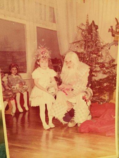 Asmeninio albumo nuotr./Oksana Pikul 1989 metais per Kalėdas