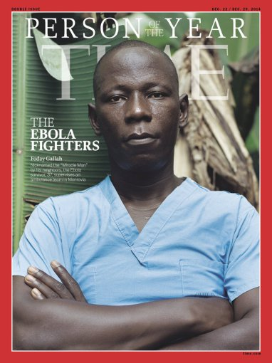 """Scanpix""/AP nuotr./Žurnalo ""Time"" viršelyje – medikai, kovojantys su Ebolos virusu"