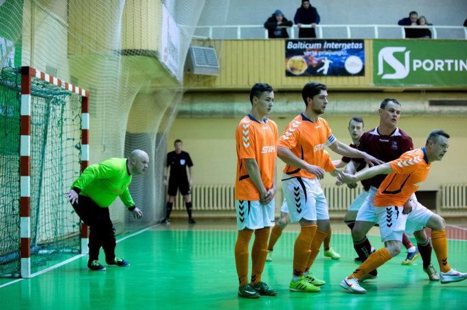 """Alfredas Pliadis/Lietuvos salės futbolo A lygos mačas tarp Vilniaus """"Bekento"""" ir Prienų """"STIHL""""'"""