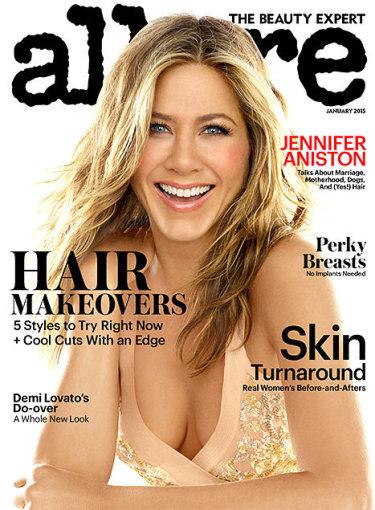 """Žurnalo """"Allure"""" viršelis/Michael Thompson nuotr./Jennifer Aniston"""