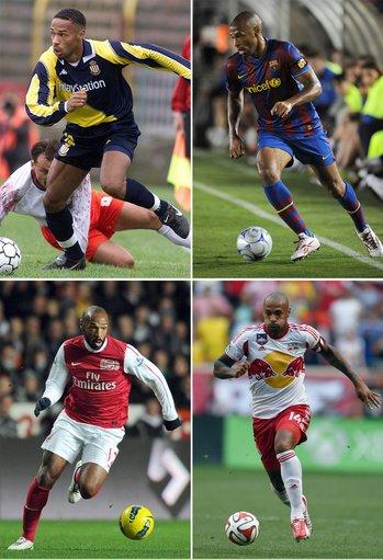 """AFP/""""Scanpix"""" nuotr./Thierry Henry (""""Monaco"""", """"Arsenal"""", """"Barcelona"""" ir """"Red Bulls"""" žaidėjas)"""