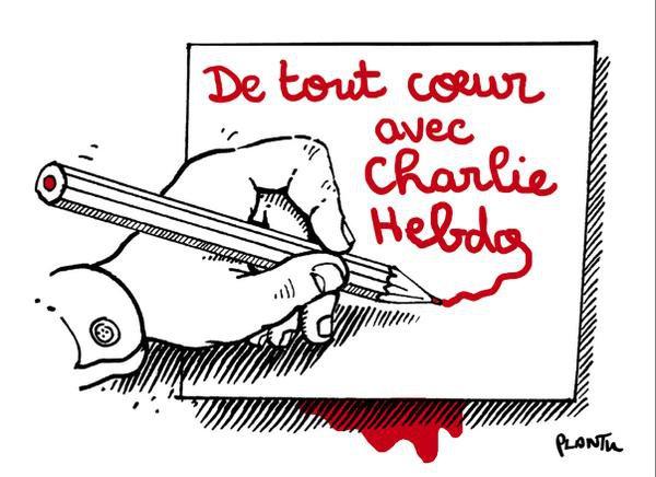 """Socialiniuose tinkluose plinta šis solidarumo gestas: """"Visų širdys su """"Charlie Hebdo"""""""