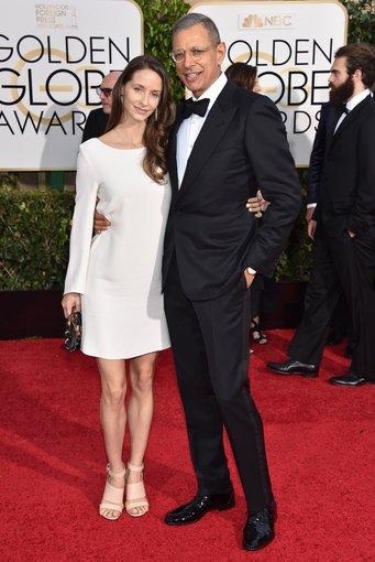 """Scanpix""/AP nuotr./Jeffas Goldblumas su žmona Emilie Livingston"