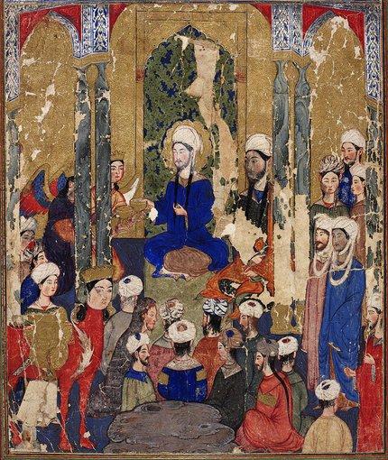 Topkapi rūmų bibliotekos iliustr./Piešinys su pranašu Mahometu