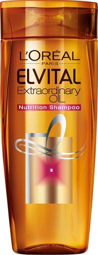 """Kompanijos nuotr./""""L'Oreal Paris Elvital Extraordinary Oil"""" šampūnas."""