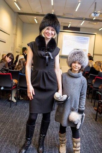 Organizatorių nuotr./Violeta Malevska-Štenger su dukra Paule