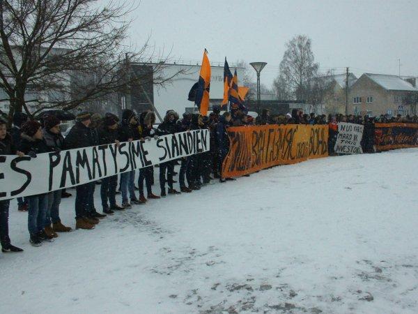 """Gargždų """"Bangos"""" sirgalių protestas"""