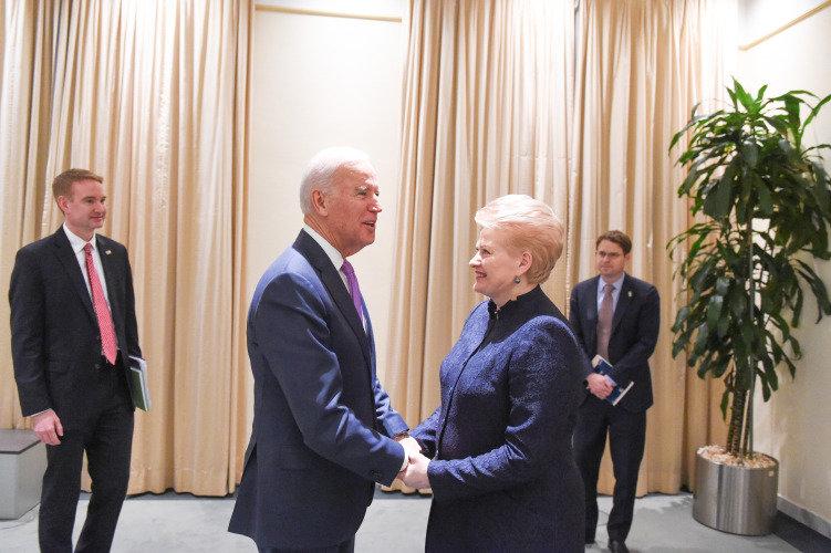 Dalia Grybauskaitė ir Joe Bidenas