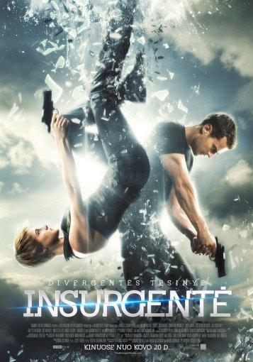 """ACME Film"" nuotr./Filmo ""Insurgentė"" plakatas"