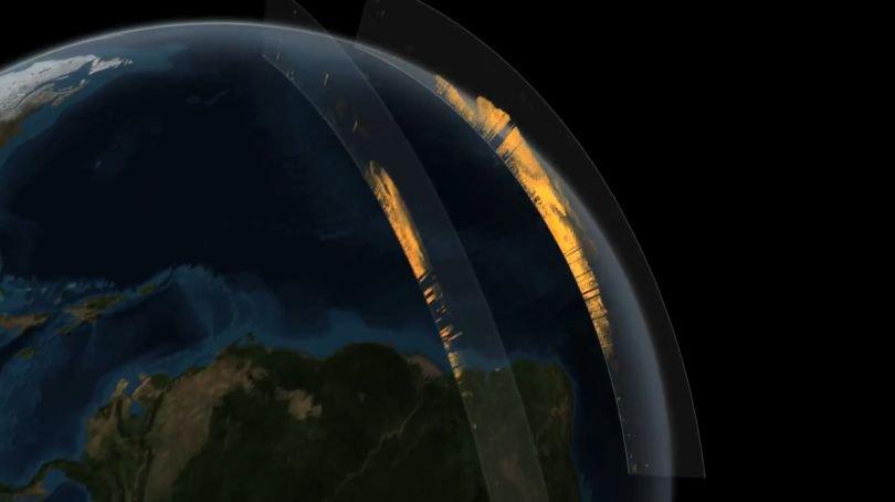Sacharos smėlis juda per Atlanto vandenyną