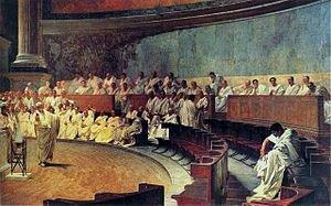 C.Maccario freska Ciceronas smerkia Katiliną