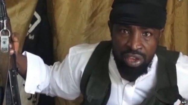 """""""Boko Haram"""" lyderis Abubakaras Shekau"""