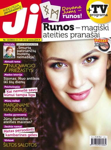 """Redakcijos archyvo nuotr./Žurnalo """"Ji"""" viršelis (13 nr.)"""