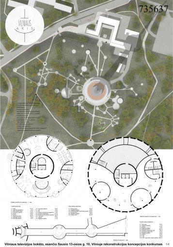 """Ryčio Mikulionio studijos """"Plazma"""" pieš./Po rekonstrukcijos Televizijos bokštas turėtų atrodyti taip"""