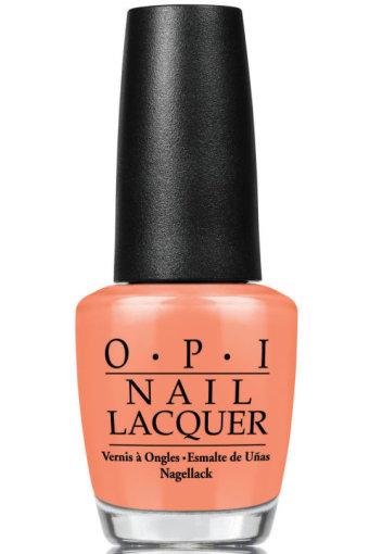 """Gamintojų nuotr./""""O.P.I."""" nagų lakas """"Sunset Orange""""."""