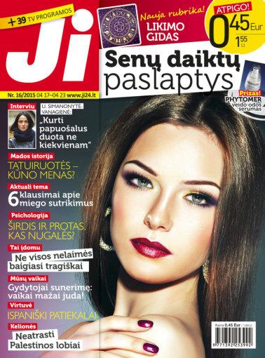 """Redakcijos archyvo nuotr./Žurnalo """"Ji"""" viršelis (16 nr.)"""