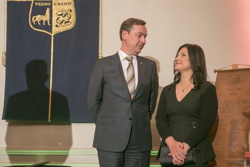 Irmanto Gelūno / 15min nuotr./Artūras Zuokas su žmona Agnė Zuokienė