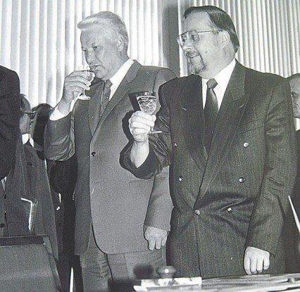 Vytautas Landsbergis ir Borisas Jelcinas