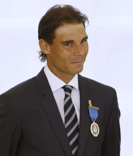 EFE/Sergio Barrenechea/Rafaelis Nadalis su auksiniu medaliu