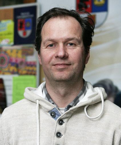 Šiaulių universiteto Menų fakulteto Dizaino katedros doc. Adas Toleikis. Z. Ripinskio nuotr.