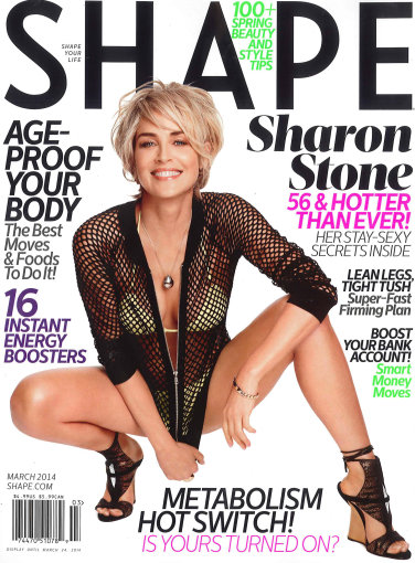 "Vida Press nuotr./Sharon Stone ant žurnalo ""Shape"" viršelio"