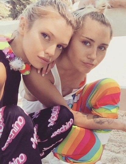Miley Cyrus ir Stella Maxwell