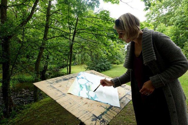 Liepos 12-17 dienomis Užventyje vyko tradicinis 6-asis akvarelininkų ir kalvių pleneras.