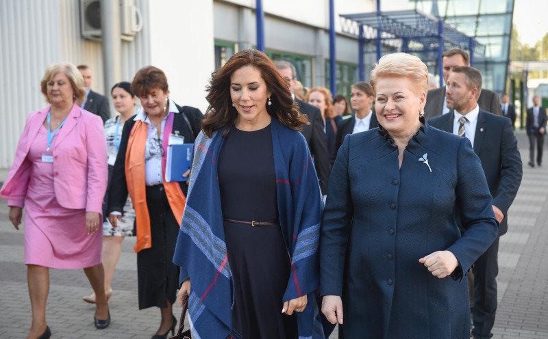 Danijos princesė Mary su prezidente Dalia Grybauskaitė