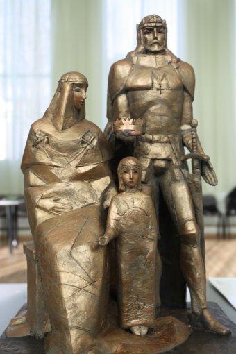 Vidmanto Gylikio nuotr. /Karalius Mindaugas, Morta ir sūnus