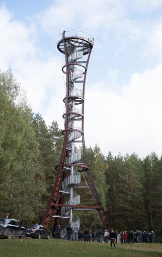 Edvardo Zavacko nuotr./Labanoro girios apžvalgos bokšto atidarymas