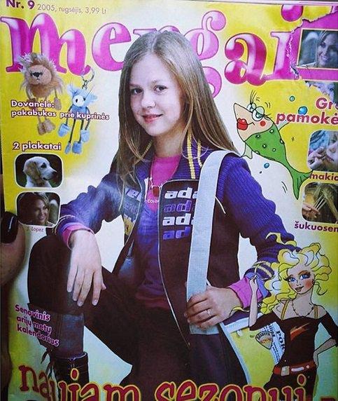 Monika Linkytė ant žurnalo viršelio