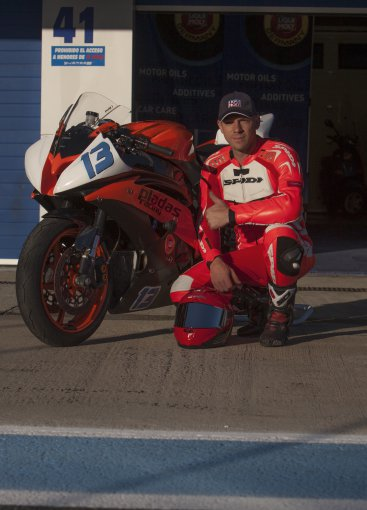 """Linos Markevičiūtės nuotr./Šarūnas Pladas """"World Superbike"""" etape"""