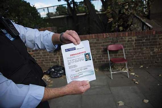 Londono policija ieško benamio lietuvio žudiko