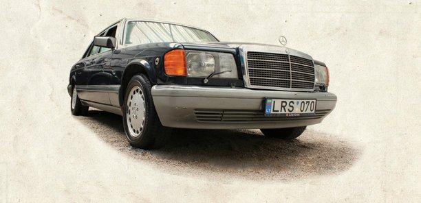 """V.Landsbergį vežiojęs šarvuotas """"Mercedes"""""""