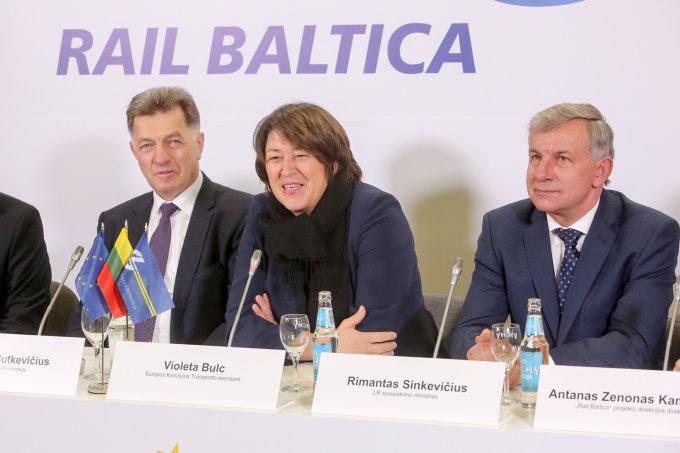 """Teodoro Biliūno / 15min nuotr./""""Rail Baltica"""" atidarymas Kaune"""