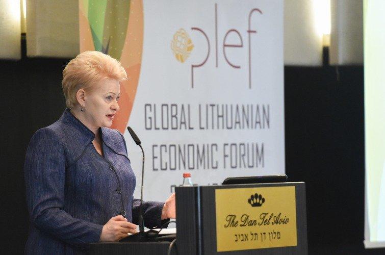 Dalia Grybauskaitė dalyvauja Pasaulio lietuvių ekonomikos forume