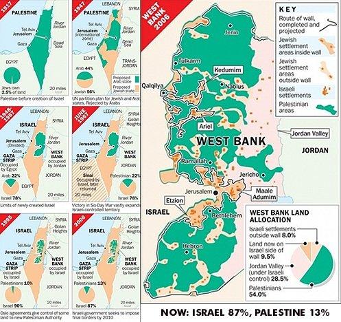 Izraelio nausėdijų žemėlapis