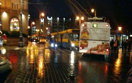 Avarija sostinės centre sutrikdė viešojo transporto darbą.