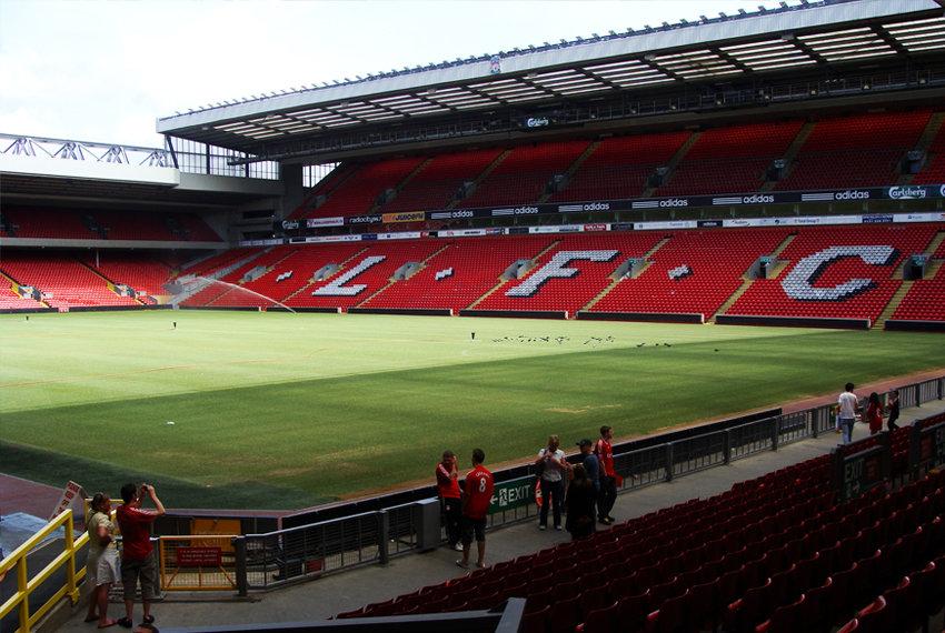Liverpulis: ekskursija į stadioną