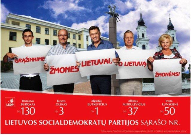 Socialdemokratų plakatas