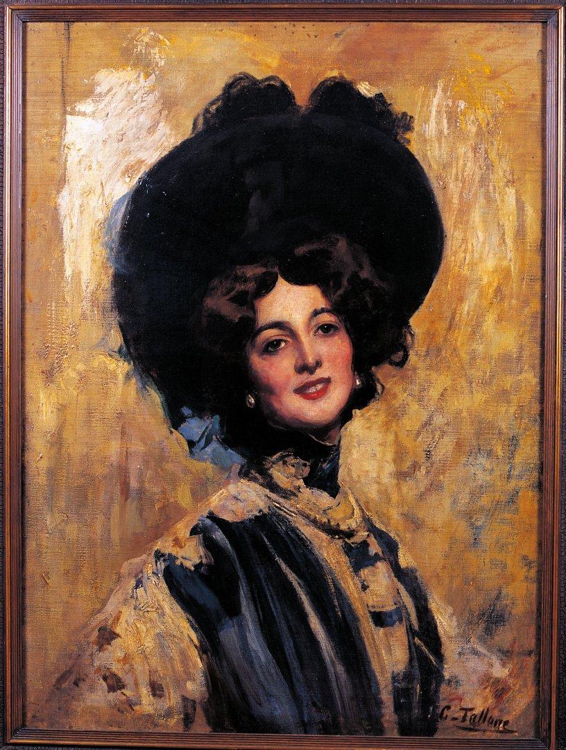Cesare Tallone nutapytas Linos Cavalieri portretas (apie 1905 m.) |  NUOTRAUKA | 15min.lt