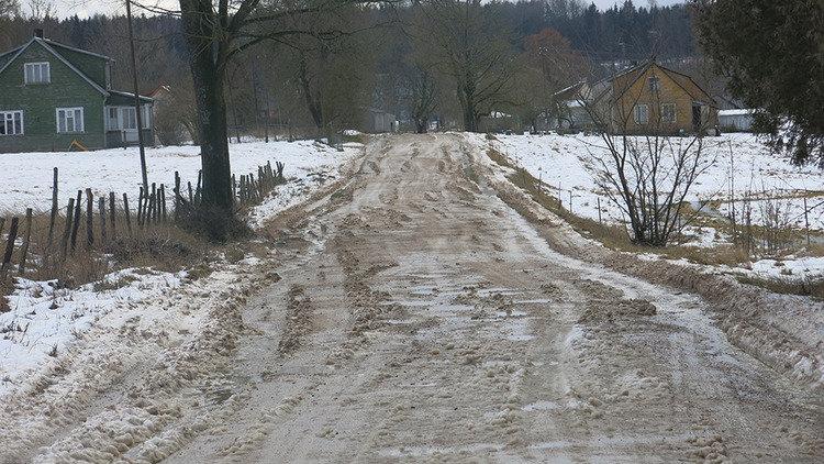 Kelias, vedantis link šio centro, pasak vyriškio, neišvažiuojamas