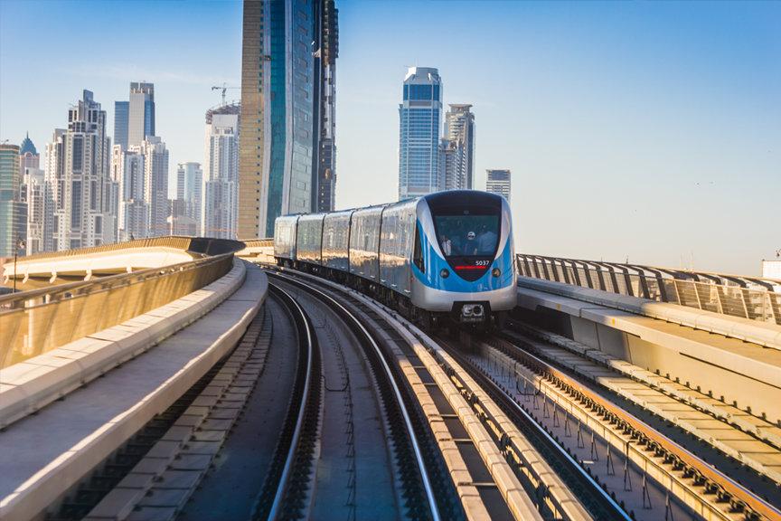 Traukiniai Dubajuje