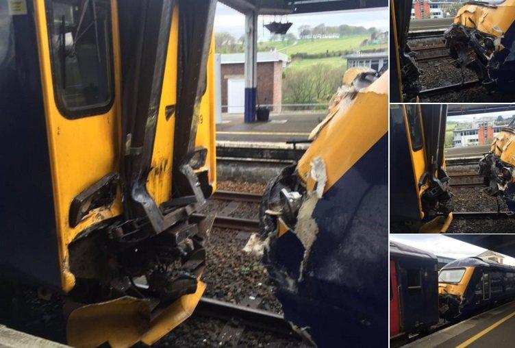 Anglijoje susidūrė traukiniai.