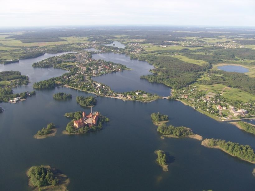 VSTT nuotr./Trakų ežerų panorama