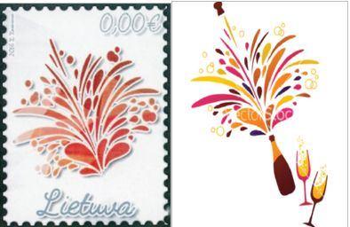 Pašto ženklų konkurso laimėtojas ir paveiksliukas iš interneto