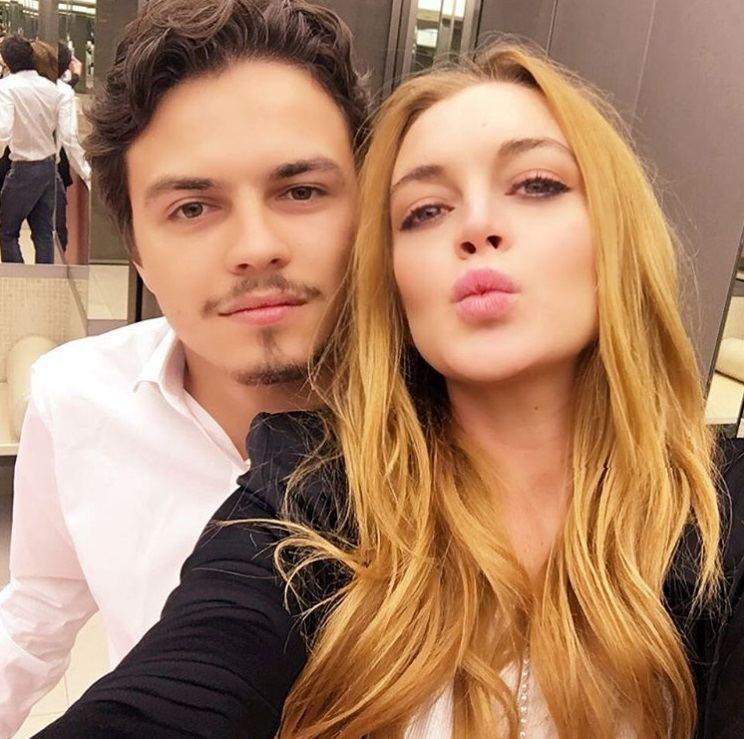"""Instagram"" nuotr./Lindsay Lohan ir Jegoras Tarabasovas"