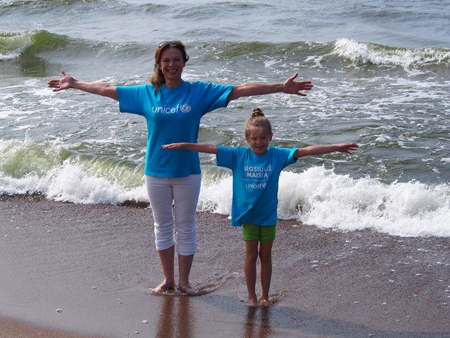 UNICEF nuotr./Virginija Kochanskytė ir Alicija